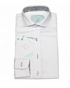 T.O. COLLECTION Boys Slim Fit Long Sleeve Contrast 100% Cotton Dress Shirt 26A