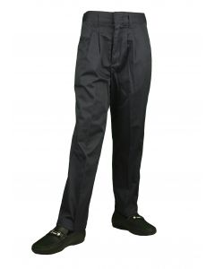 BENTLY Boys Classic Fit Elastic Back navy Pleated Pants