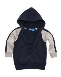 FRENCH TOAST Boys Navy With Gray Sleeves Cotton Blend Hoodie