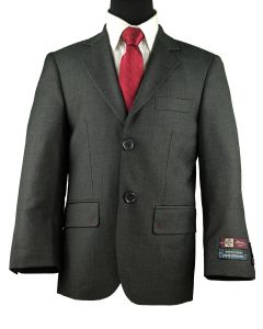 MARCO ROSSI Boys Classic Fit Gray Suit
