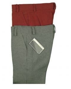 MO & DAVE Boys Linen Skinny Fit Flat Front Adjustable Waist Dress Pant - Colors