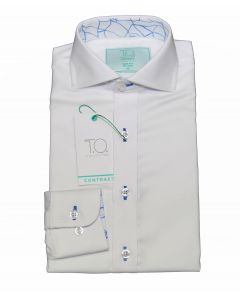 T.O. COLLECTION Boys Slim Fit Long Sleeve Contrast Cotton NonIron Dress Shirt 18